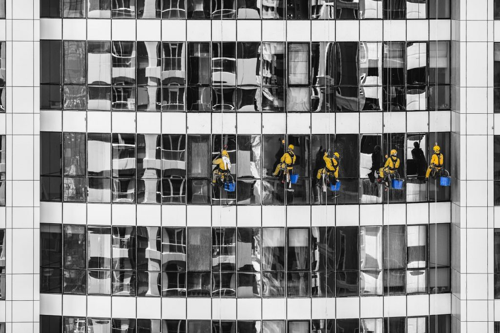 Litmus commercial buildings, window cleaners
