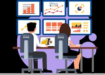 litmus monitoring screens illustration