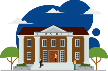 Litmus town hall public sector illustration