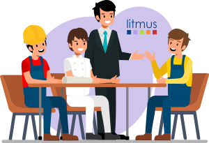 Litmus Tender illustration businesses