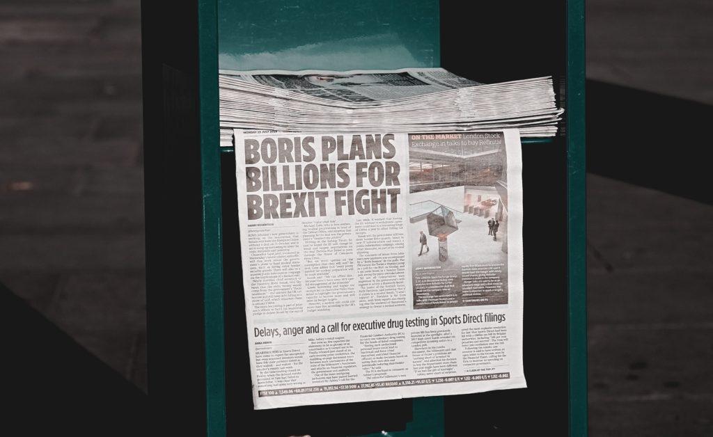 Newspaper with Brexit Headline