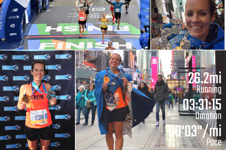 Litmus Partnerships Rachel runs the New York Marathon image collage