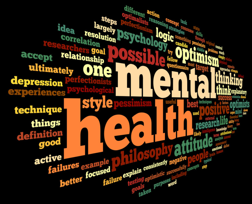 Mental health word cloud image