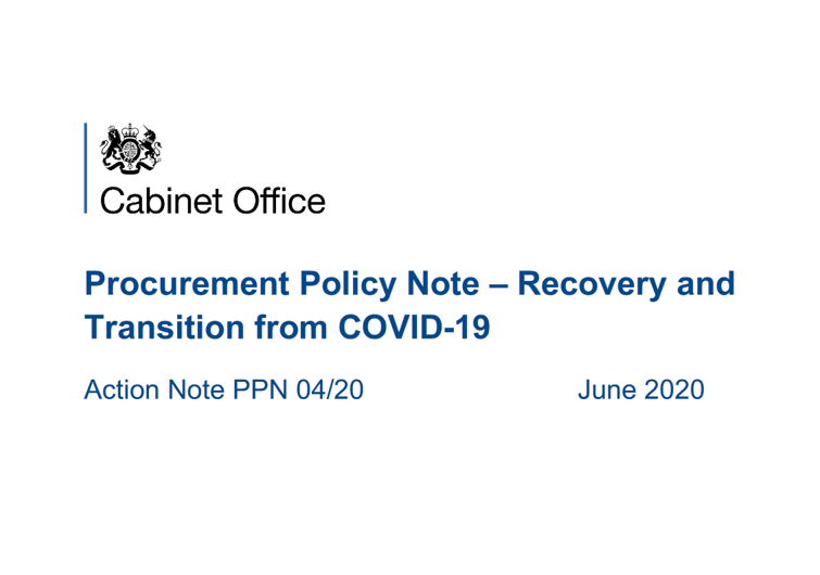 Cabinet office PPN Post Covid